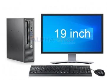 """HP EliteDesk 800 G1 USDT i5 4e Gen + 1x 19"""""""