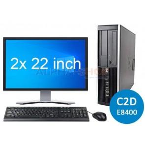 """HP Elite 8000 C2D + 2x 22"""""""
