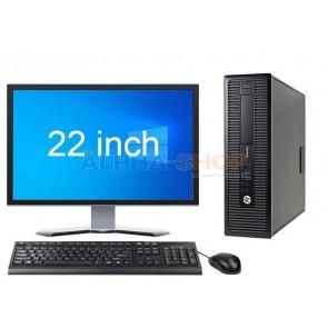 "HP EliteDesk 800 G1 SFF i5 4e Gen + 22"""